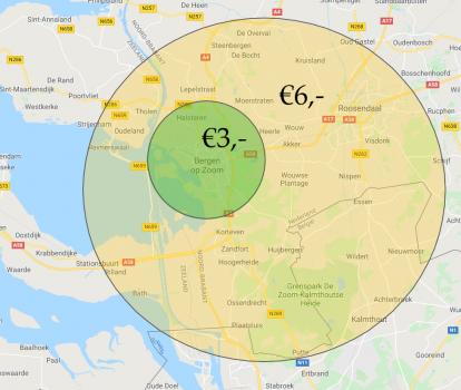 Voorrijkosten - tarieven